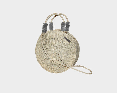 Dark Tan Straw Palm Bag - The Tuscany