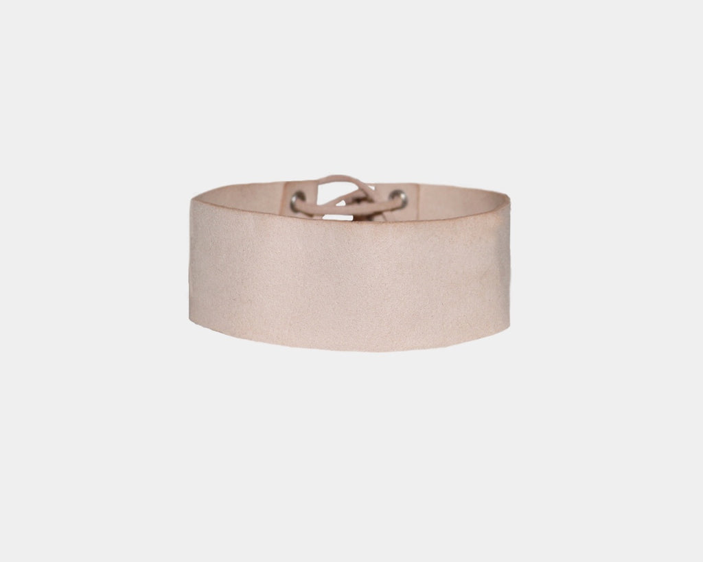 Blush Nude suede choker - The Pacific Palisades