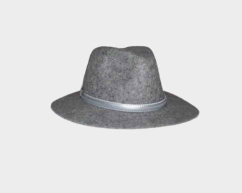Rose Wool Panama Style Hat - The Aspen