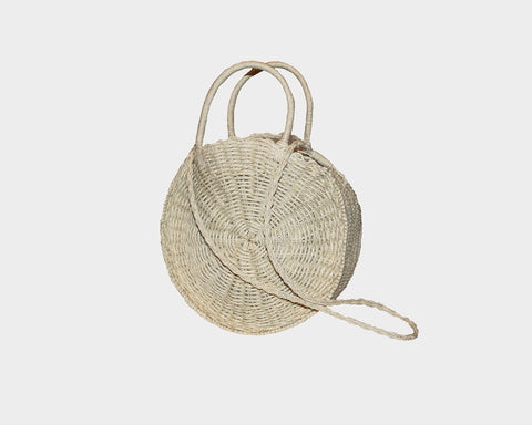 Silver Goddess Straw Cross Body Bag - The Tulum