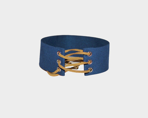 Navy suede choker - The Pacific Palisades