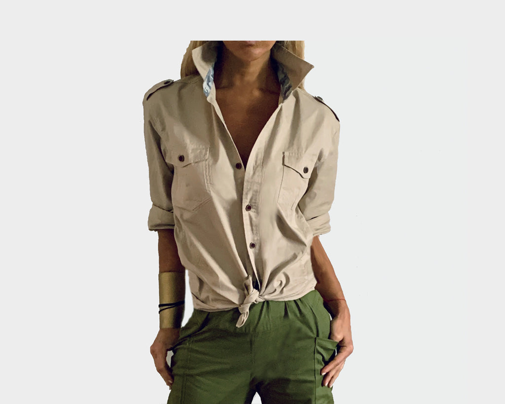 Bisque Taupe Long Sleeve Shirt - The Cape Town