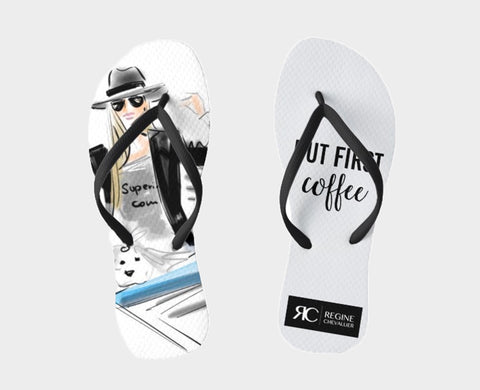 Sandals - Flip Flops - Coffee First
