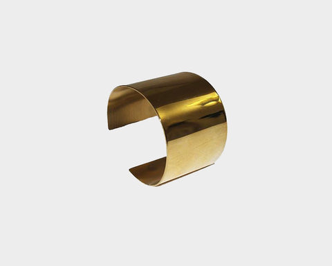 Small Style Gold Metal Cuff - The Monaco