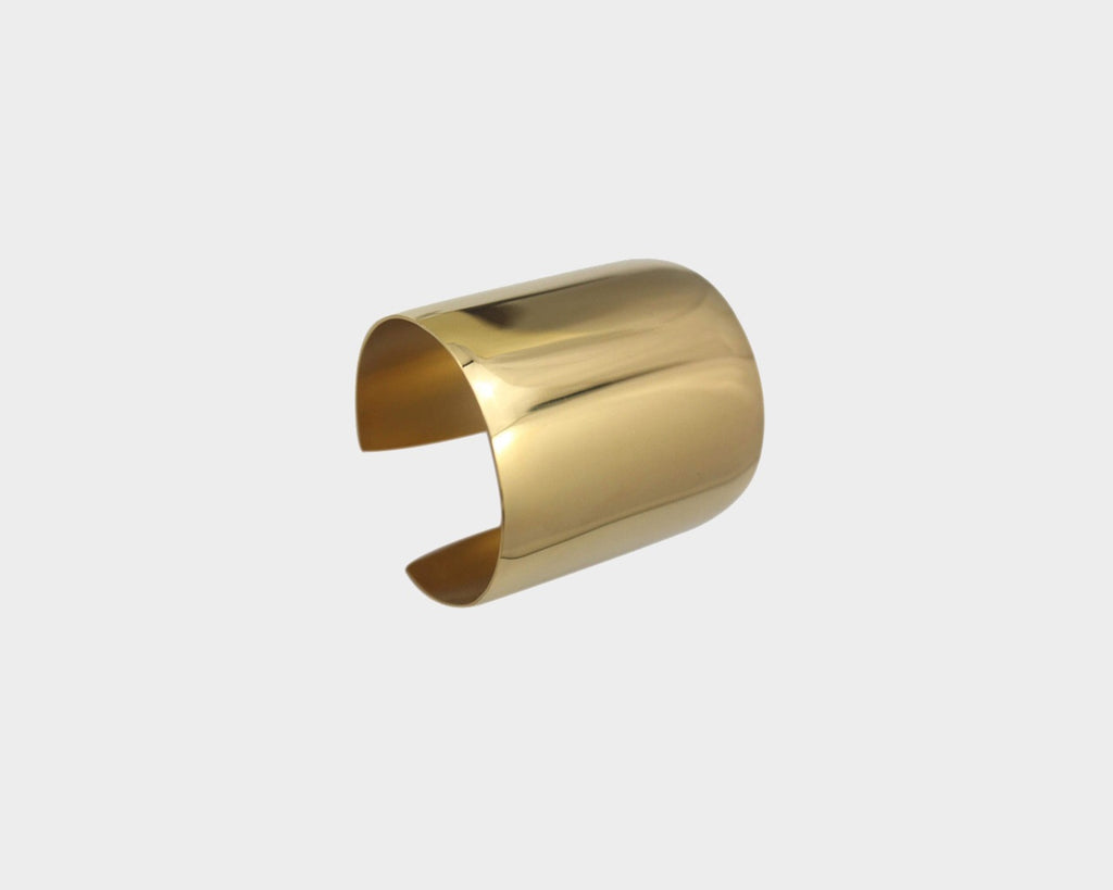 Medium Style Gold Metal Cuff  - The Milan Collection