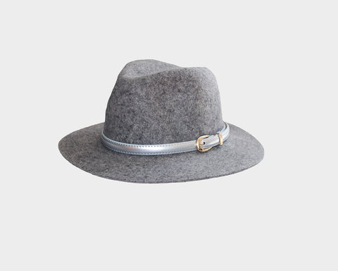 Faux Wool Black Hat - The London