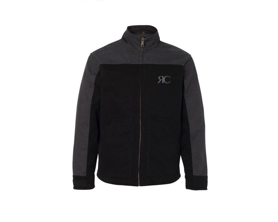 Mens Two-Color Zipper Front Jacket - The Bond Street
