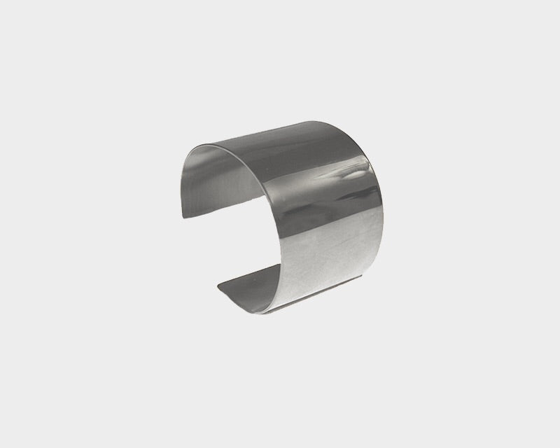 Small Style Silver Metal Cuff  - The Monaco
