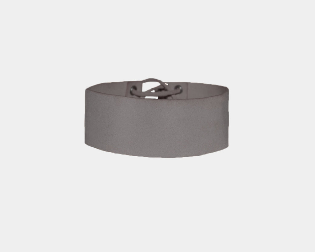 Moonlight Gray suede choker - The Pacific Palisades