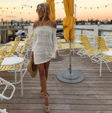 9. Off-White Gold Sequins Strap Apres Beach Cover-up - The Tuscany