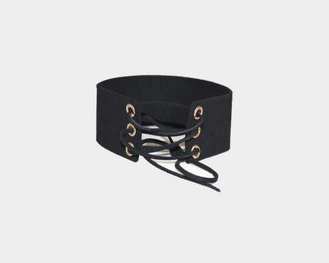 Cream Vegan Leather Choker - The Portofino