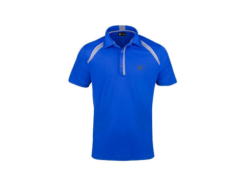 Cobalt Blue Men's Bicolor Polo - Palm Beach