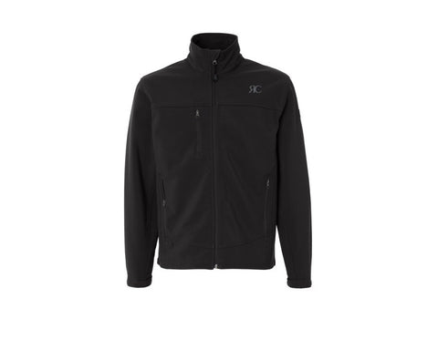 Mens Black Zipper Front Jacket - The Bond Street