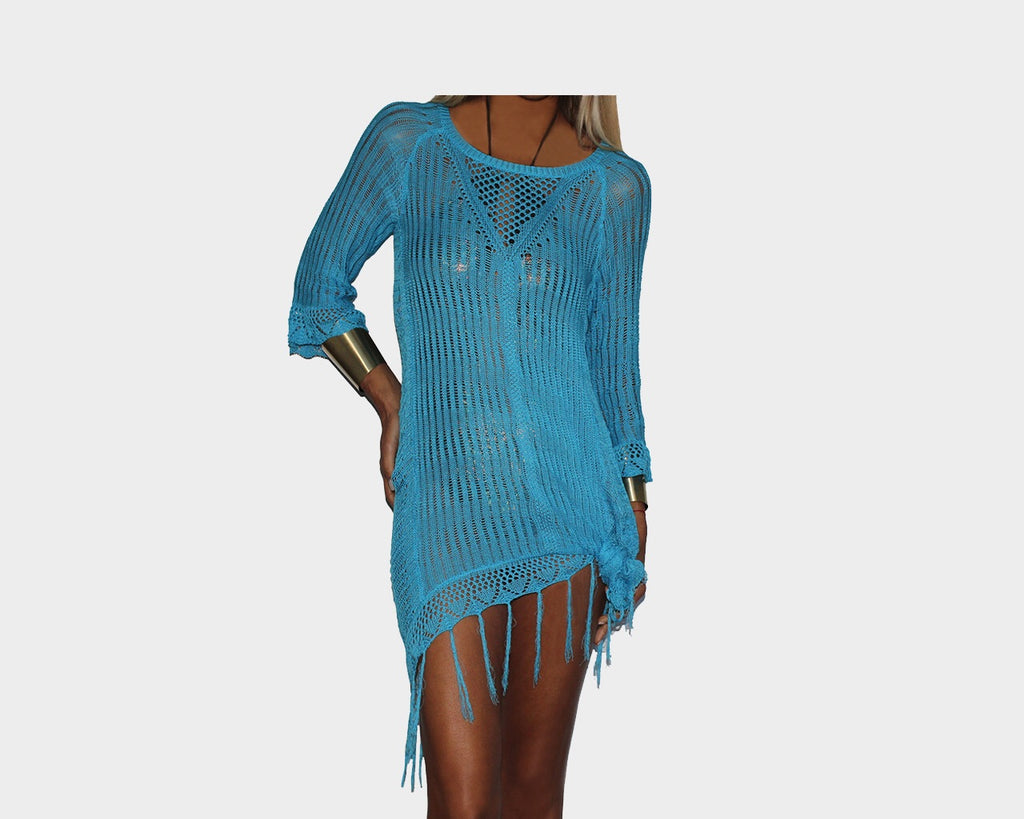 Azul Blue Apres-Beach Cover-up - The Santorini