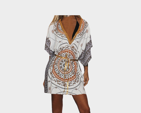 Deep Bronze & Gold Apres Beach Cover-up - The Portofino