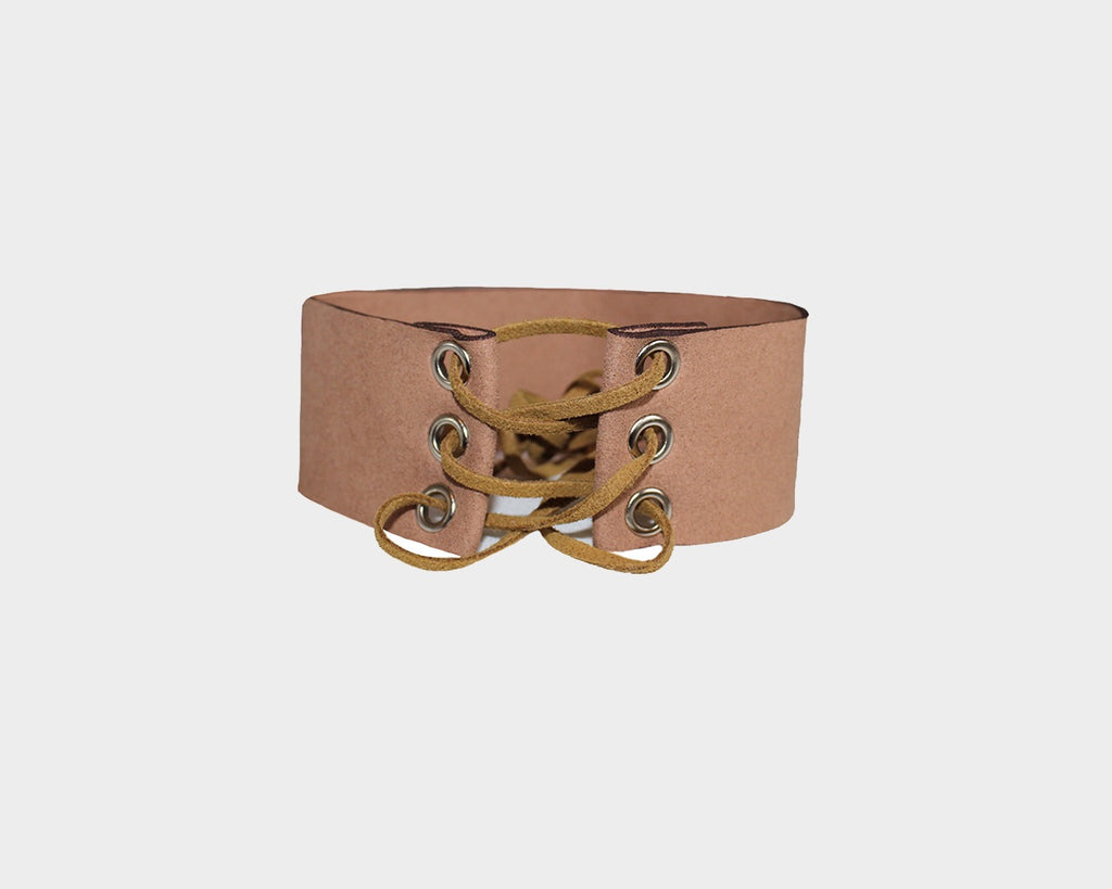 Tan suede choker - The Pacific Palisades