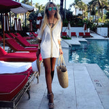 Golden Lace White Beach Cover-up - The Amalfi Coast