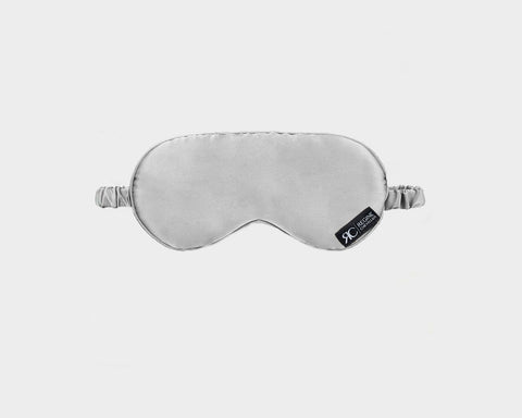 Organic Silk Silver Eye Mask - The Park Avenue