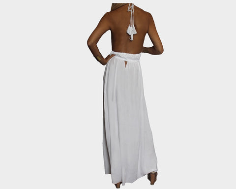 bf9708ae91d ... Silver   White Side Slit Dress - The St. Tropez