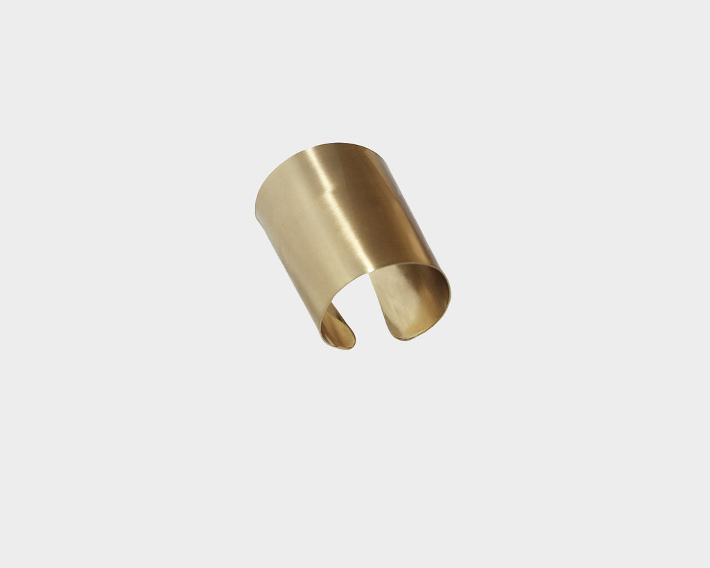 Large Style Gold Metal Cuff  - The Milan Collection