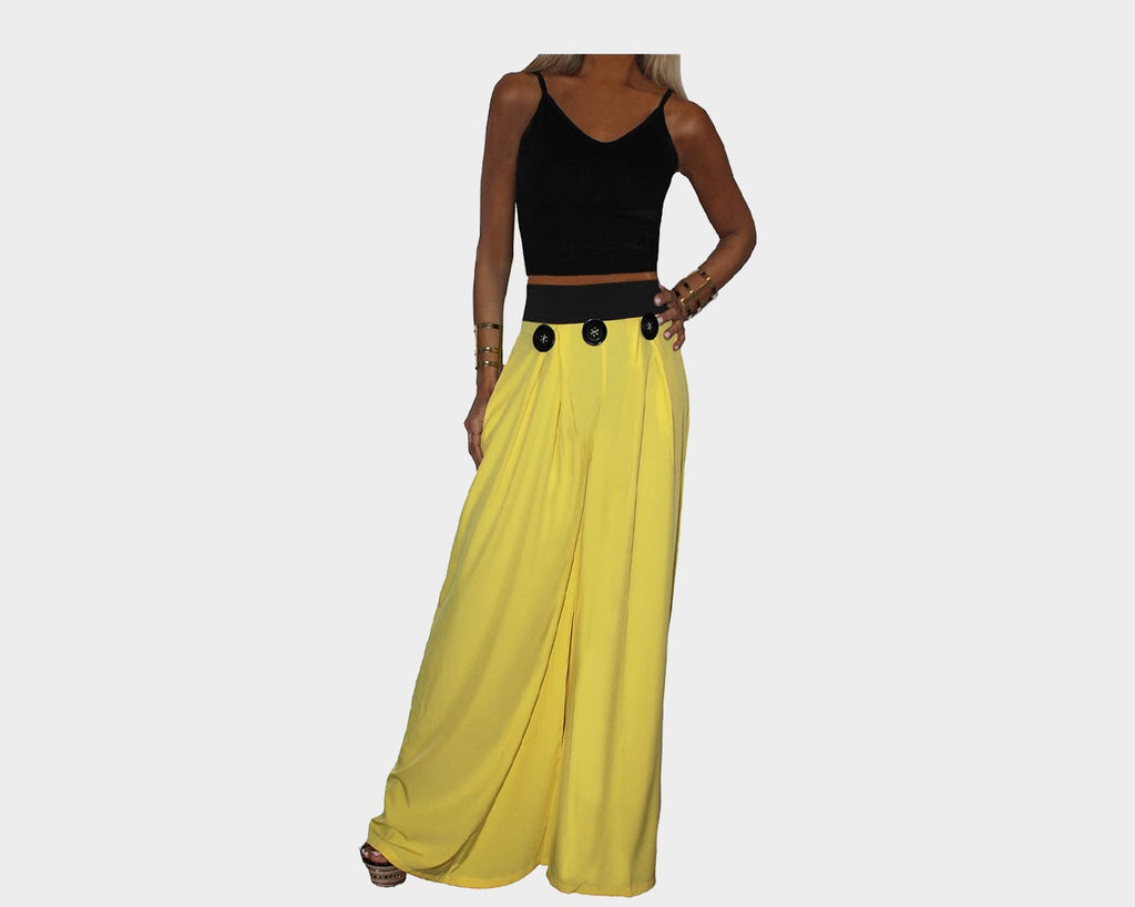 Black & Yellow Jumpsuit - The Rodeo Drive