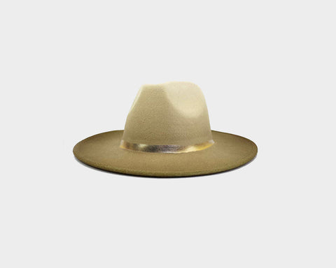 Puff Cream Panama Style Felt Hat - The Aspen