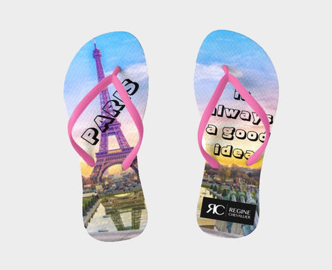 Sandals - Flip Flops - Paris is always a good idea