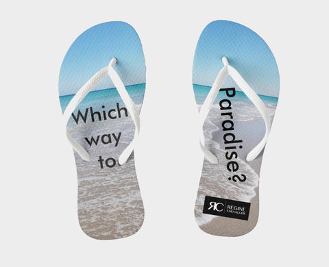 Sandals - Flip Flops - Which way to paradise?