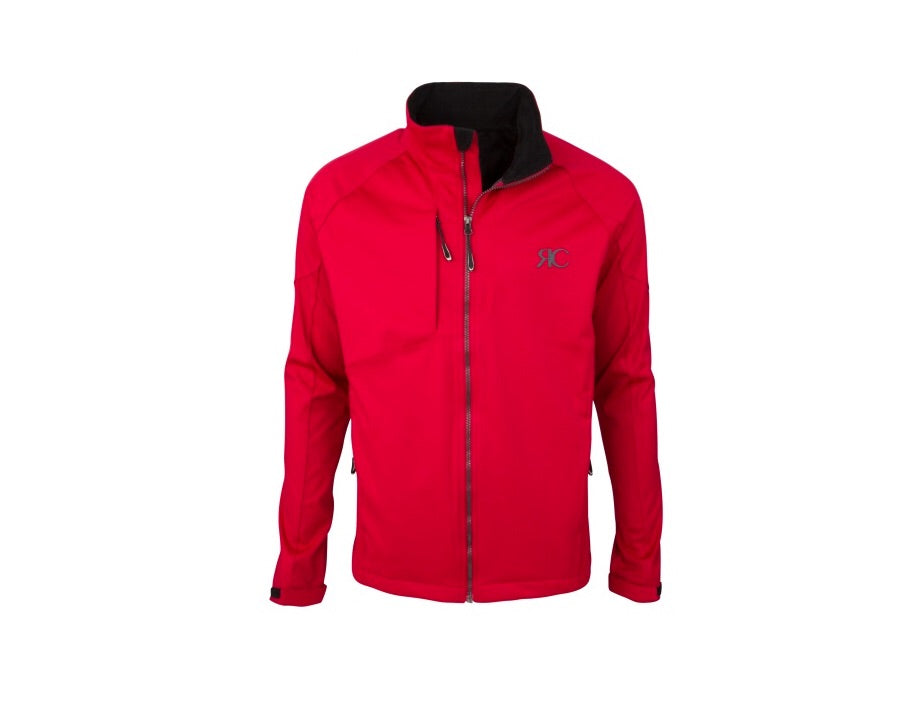 Ferrari Red Mens Zipper Front Jacket - The Aspen