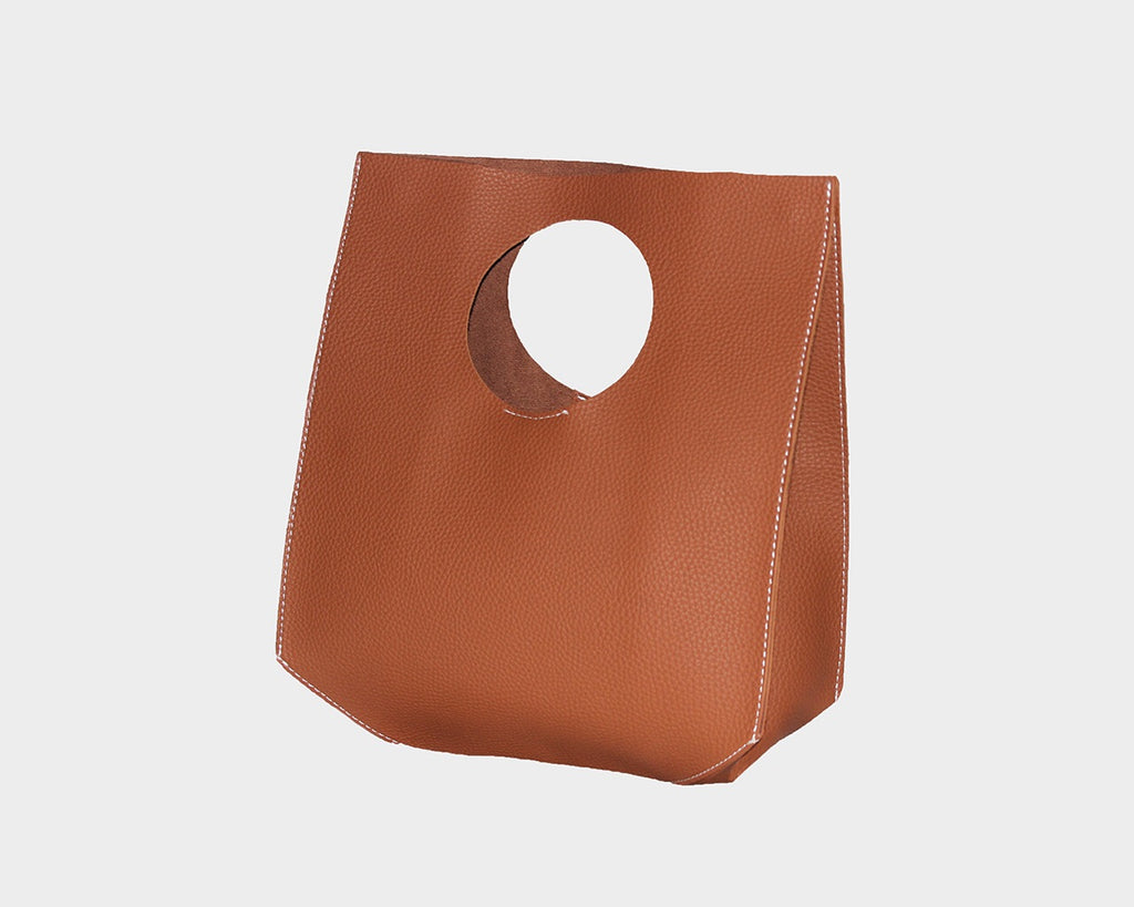 Toffee Vegan Leather Hand Bag - The Milan