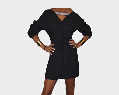 Black Knit Dress - The Park Avenue