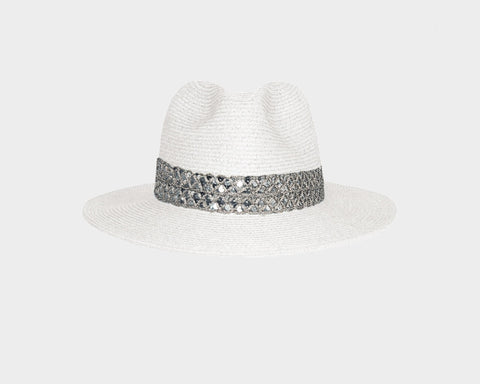 7. Pure White Panama Style Sun Hat - The Sun Chaser