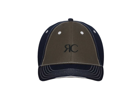 Navy & Dark Olive Baseball Cap