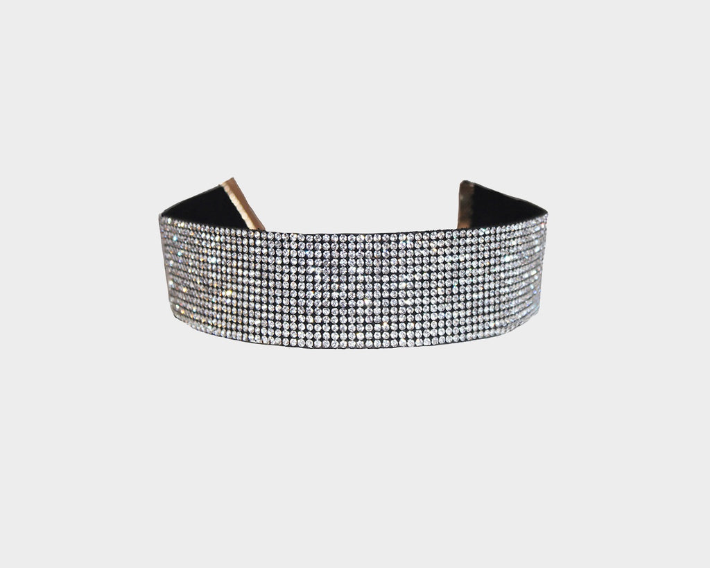 Wide Crystal Diamond Choker - The Ibiza