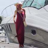 Bordeaux Rouge & Silver Chest Strap Dress - The St. Tropez