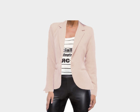 Boyfriend Blush Blazer - The Monaco