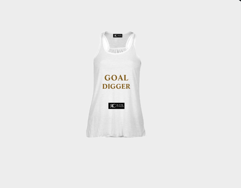 White Tank Top - The Goal Digger