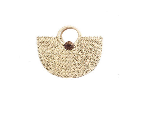 Dune Sand Straw Palm Bag - The Tuscany