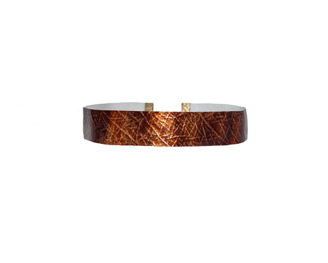 Copper Python Vegan Leather Choker - The Tuscany