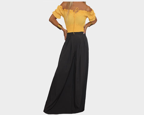 0e3eb63bdb5a7 Black & Tuscan Yellow Jumpsuit - The Tuscany ...