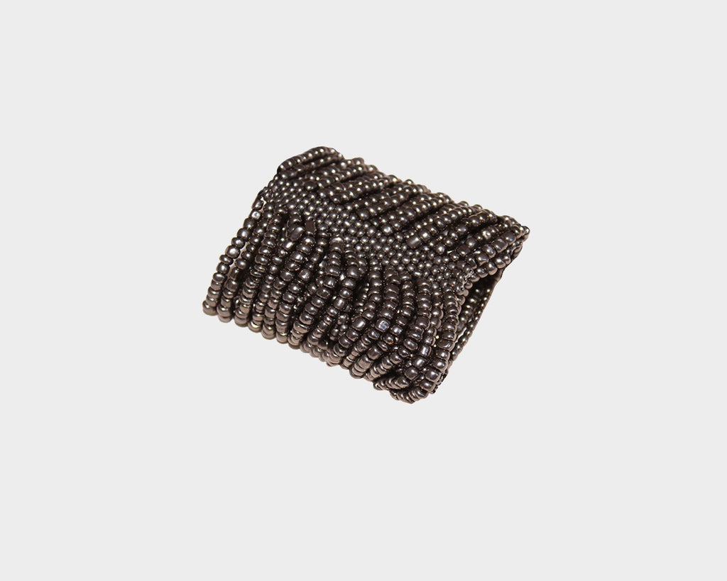 Dark Rust Cascade of beads bracelet - The Milan