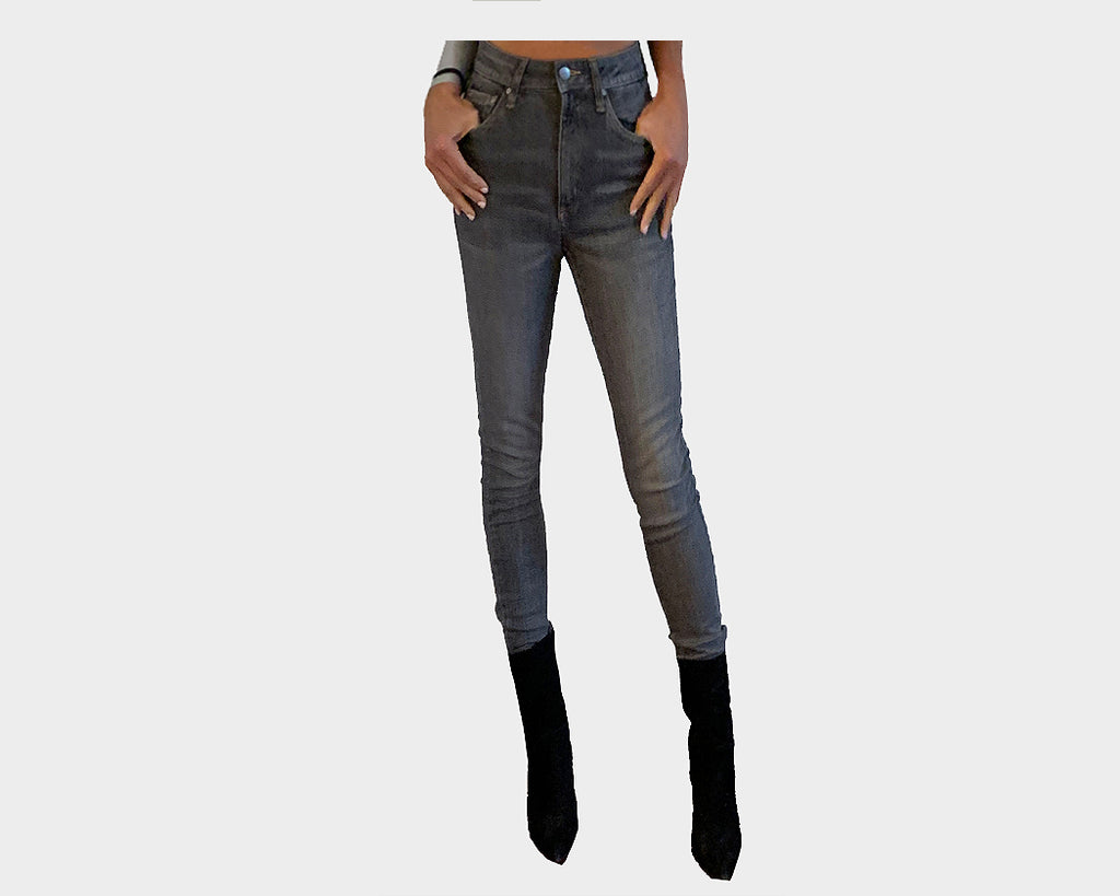 Dark Gray stretch skinny jeans - The Madison Avenue