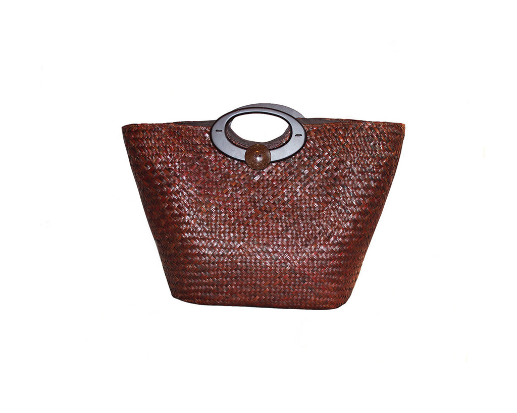 Large Straw Tote Bag - The Cap D