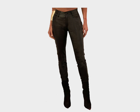 Vegan leather 100% Stretch legging zipper pants - The Madison Avenue