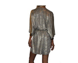 Golden Metallic Kimono Style Jumpsuit - The Monte Carlo