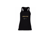 Black Racerback Tank Top - MOVIE STAR