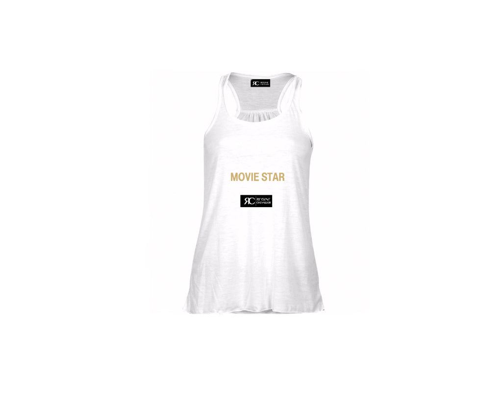White Racerback Tank Top - MOVIE STAR