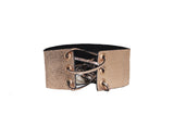 Rose gold metallic suede choker - The Pacific Palisades