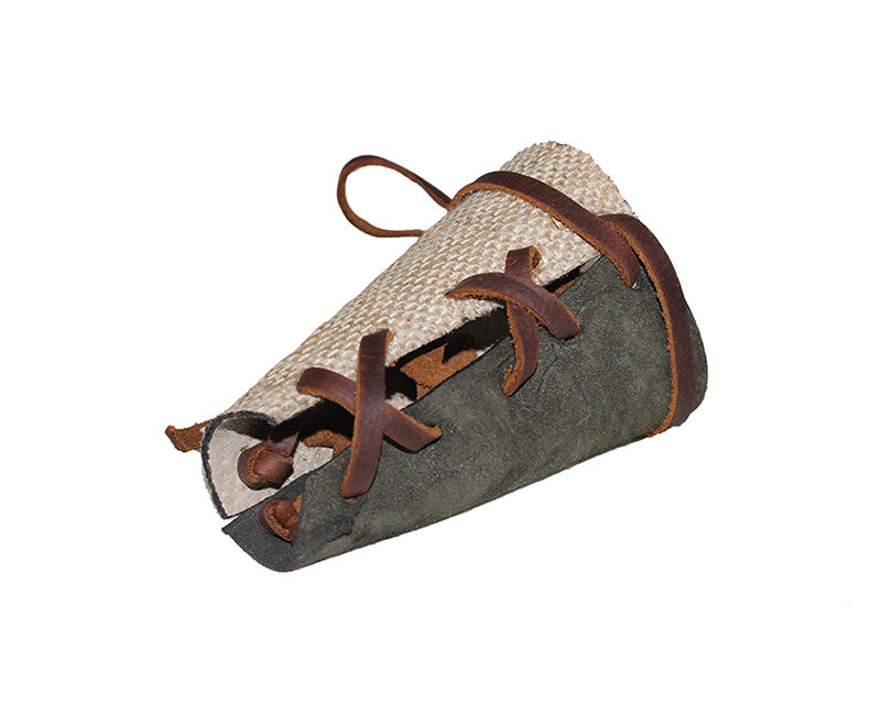 Burlap leather with Cargo green Suede Two-Tone Wrap Cuff - The Monaco