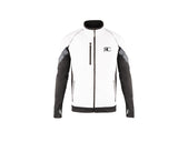 White Mens Zipper Front Jacket - The Vail II